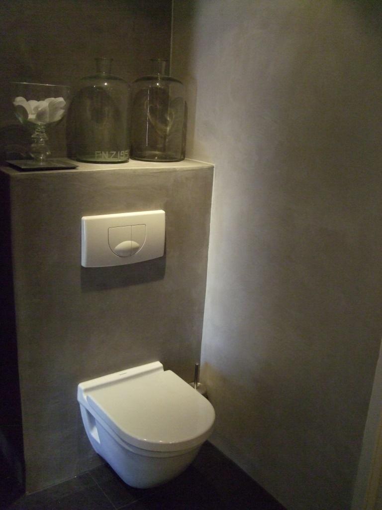 Foto 39 s beton cir unique for Fotos wc hangen tegel